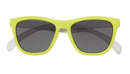 These J.Crew KIDS' SUNNIES ($24.50) are the coolest shades under the sun, and are designed with UV-blocking mirrored lenses (UV 400 protection) and colorful frames.  These Sunglasses are available in 5 colors; bright azure, pewter, neon tangerine, clear, and neon yellow (above).  J.Crew also has these KIDS' SUNNIES in 4 more colors; neon rose papaya, black, pink lemonade, and tortoise shell.