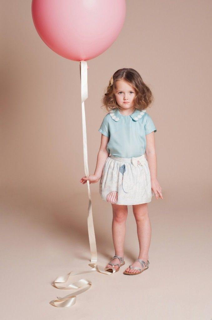 Daisy Chain Blouse$90.75; Printed Silk Skirt $107.25; Bow Hair Clip $23.93