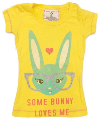 This Tailgate SOME BUNNY LOVES ME T-SHIRT is a funny little bunny of a Tee that is cute, smart and knows she is loved. Your little one will love wearing this Easter Graphic T-Shirt in bright yellow into summer.