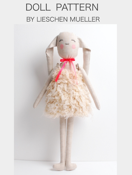 This Miri Doll Pattern by LIESCHEN MUELLER ($20.44 for PDF Pattern) is a pattern to make your little one a MIRI Bunny.  You receive by Email a PDF document including the pattern and all the instructions needed, then turn on your sewing machine and your little one has their very own Miri Bunny made with Love!