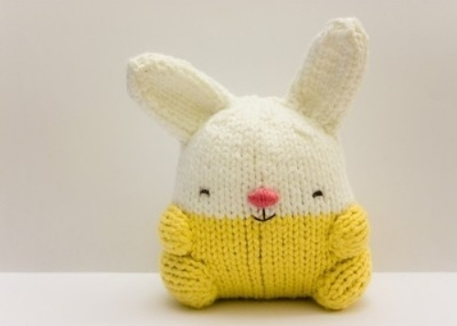 Daisy by y0omii ($25.00) on Etsy is knitted out of 100% organic cotton yarn and is a bright and cheerful little Bunny who brings laughter and smiles wherever she travels.