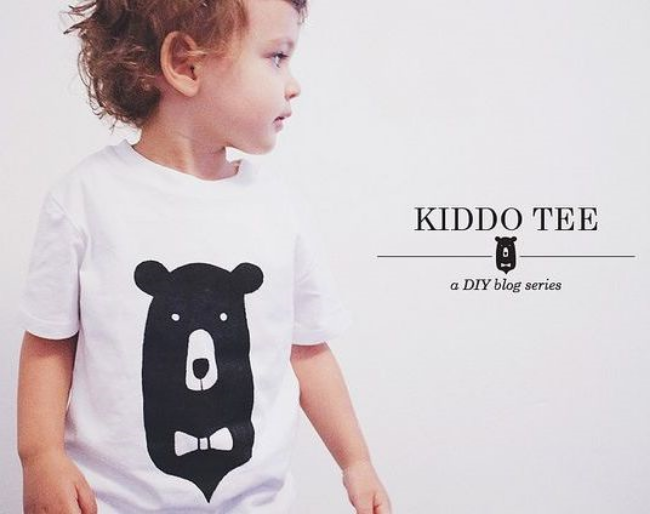 This  Oana Befort Kiddo Tee DIY  is from her DIY Blog Series. Oana Befort collaborated with Etsy for a new spring inspired Ladybug Kiddo Tee DIY project, you can follow the tutorial on the Etsy blog  HERE . And at her  Website  she has a DIY blog series with tutorials for a Bird, Mr. Fox, Happy Apple, Cat, and This Bear. You can DIY any of these Animal Graphics on a tank top, t-shirt, or my personal favorite a Sweatshirt (Obviously :-).