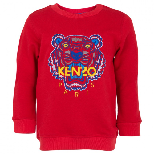 This  Kenzo Red Tiger Sweatshirt , is instantly recognizable as Kenzo. Designed in France with the brand's inimitable tiger Graphic and branding embroidered at the front.