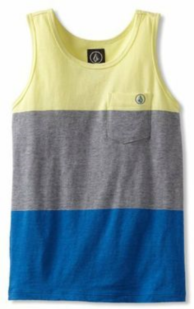 This Volcom Boys 8-20 Blakely Tank ($29.28) or Volcom Boys 2-7 Paco Tank Youth ($22.00) from amazon.com is a cool classic fit Tank Top with engineered patch pocket and Volcom embroidery.