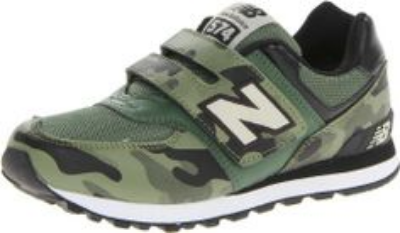 These  New Balance Velcro Running Shoe are too cool for school with a camouflage printed upper. In addition to their cool factor they are functional on the play ground because New Balance sneakers are designed to fit, which is extremely important to growing feet.