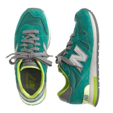 These  KIDS' NEW BALANCE® FOR CREWCUTS SNEAKERS IN GREEN  are one of the most iconic, sought-after pair of sneakers ever invented: A new, limited-edition iteration of the 1300 shoe debuts every five years.These retro kicks make school and play outfits cooler.