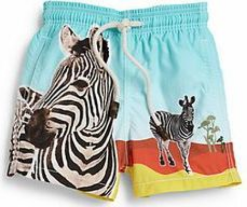 These Vilebrequin Zebra Swim Trunks will have your little boy ready for a surfing safari! I am keeping my eyes on these must-have, zebra print swim trunks hoping they will go on sale for Mario.