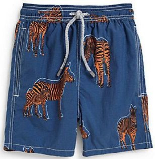 These Vilebrequin Zebra Print Swim Trunks make a splash with a bold allover zebra print.