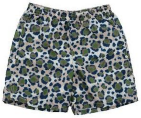These  KENZO KIDS Swimming trunks  are made out of techno fabric, have a logo detail and a cool Leopard Print. These Animal Print Swim Trunks are very boy and very cool.