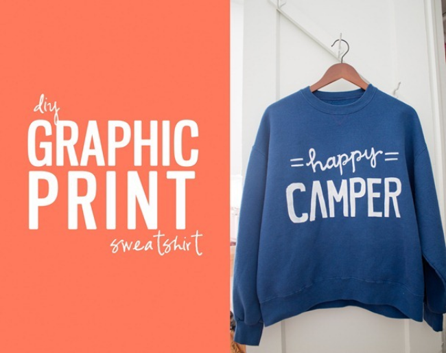 This diy graphic print sweatshirts from He and I -- The Blog teaches you how to make our own Statement Graphic Sweatshirts. They're super easy (and oh so cheap!).