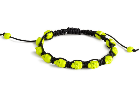 This H&MSkull Bracelet ($4.95) isin waxed cotton cord with skull-shaped metal beads and has adjustable length. This is the Friendship Bracelet I am getting my son Mario. It is a great price and is a very cool Friendship Bracelet-- I know he will love it!