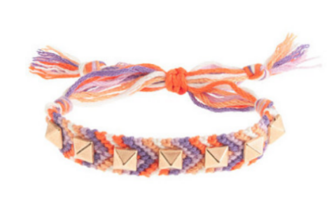 This J.CrewGIRLS' STUDDED FRIENDSHIP BRACELET ($15.00) is inspired by made-at-camp friendship bracelets, but is finished with chunky studs for extra charm.