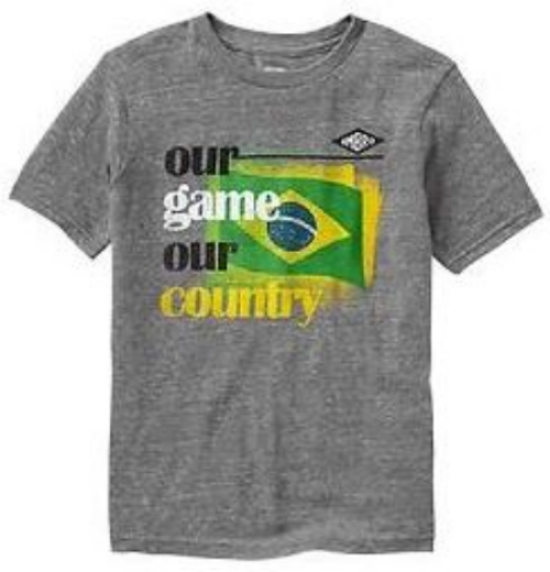 This Umbro Soccer graphic tee is a fun way to cheer on and show support for the host country Brazil. GOOOAL!