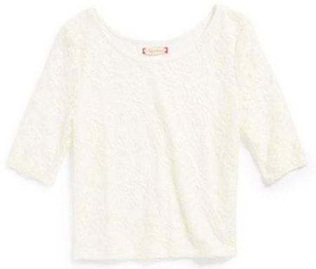 This Ruby & Bloom Lace Crop Top ($30.00) from nordstrom.com is a cute Lace Tee in a simple silhouette that has plenty of sunny charm.