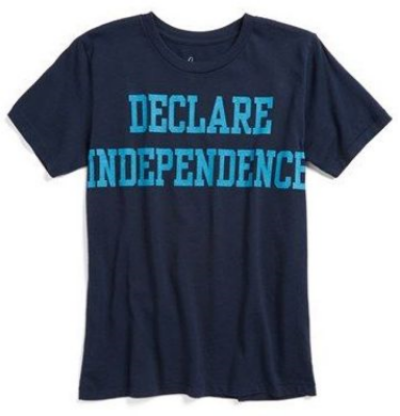 This Peek 'Declare Independence' T-Shirt (Little Boys & Big Boys) ($28.00) from nordstrom.com is a  patriotic T-Shirt made from soft cotton that lets your little one celebrate in style.