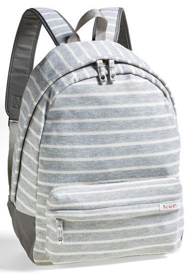 Poketo Striped Fleece Backpack