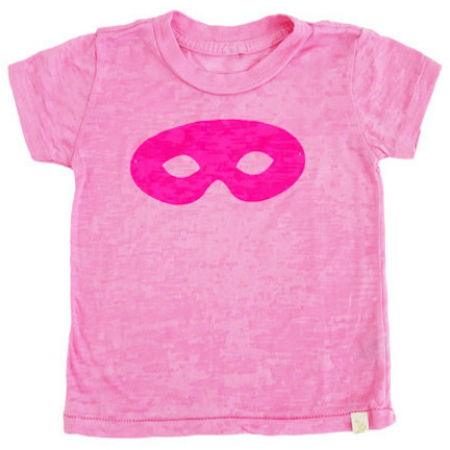 This ATELiER ATSUYO ET AKiKO TEE BURNOUT - MASK-PiNK ($44.00) is a super cozy Girly Girl Burnout T-Shirt in Pink with a Pink Printed Classic Mask Graphic, and is also HAND SiLKSCREENED iN BROOKLYN, NY- YAY YAY!