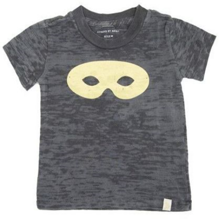This ATELiER ATSUYO ET AKiKO TEE BURNOUT - MASK-GRAY ($44.00) is a super cozy Burnout T-Shirt with a Gold Foil Printed Classic Mask Graphic, and is also HAND SiLKSCREENED iN BROOKLYN, NY- YAY!