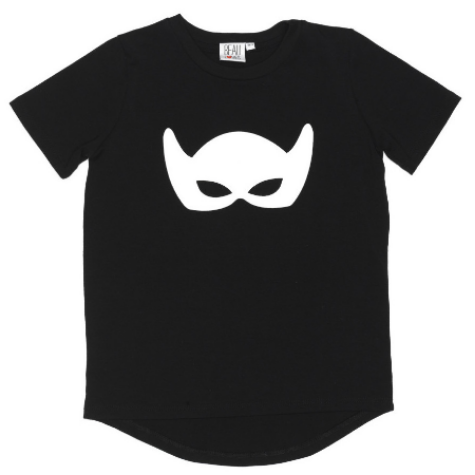 This Beau Loves White mask t-shirt ($39.00) from minoukids.com is made from 100% quality cotton fabric, and is unisex which can easily be mixed and matched.  This is a very Cool Mask T-Shirt!