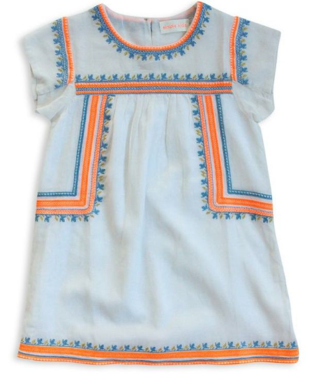 This  Simple Kids Bilberry Dress  is a beautiful Boho Dress with Embroidered design. I wish this dress came in my size- it is absolutely stunning and I want it for Me!