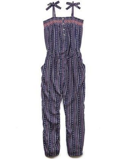 Forever 21 Girls Favorite Tribal Print Jumpsuit  - This vibrant tribal print Jumpsuit has a smocked neckline and adjustable shoulder straps with bow accents.