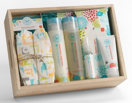 The Honest Company Baby Arrival Gift Set $32.90- Celebrate baby's arrival with this must-have set of safe, all-natural nursery essentials, this is the perfect baby shower gift for the eco-friendly family.