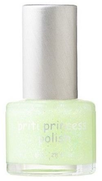 Glow In The Dark is fun for catching fireflies on a summer night. I love this PRITI NYC PRINCESS Glow Leaf- Limited edition which is an opaque green with sparkles and glows in the dark