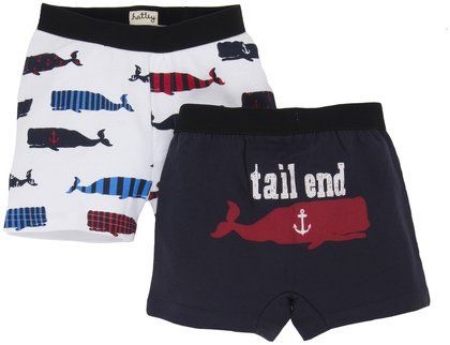 Hatley 2 Pack Boxers ... who needs pants when your boxers are this cute?! They are 100% cotton with a functional fly and wide elastic band.