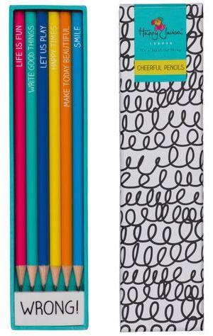 Happy Jackson 6 Color Pencils With Erasor