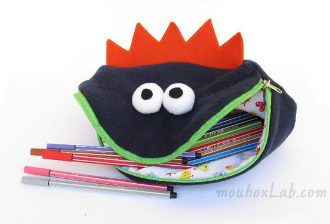 Back to school Monster bag by mouhoxLab