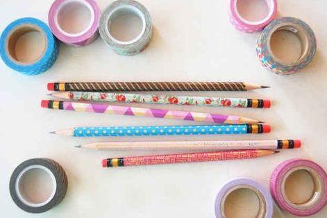 DIY Washi Tape Pencils