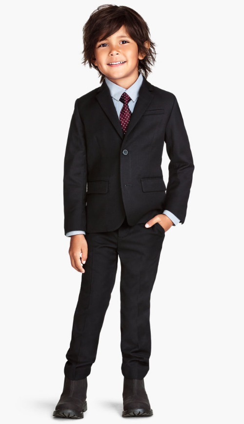 H&M Classic Blazer $34.95 and Suit Pants $24.95 is a hip and cool Suit at a good price! It comes in three colors Black, Dark blue or Dark gray melange.