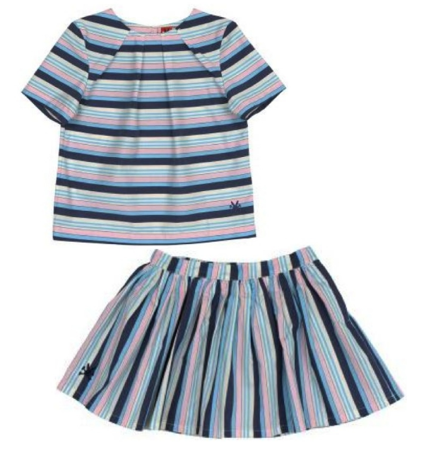 no added sugar Box Clever - Deckchair Stripe Top $26.20 and no added sugar Gloria - Deckchair Stripe Skirt $33.06