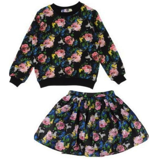 MSGM Sweatshirt $115.00 and MSGM Skirt $106.00 from yoox.com