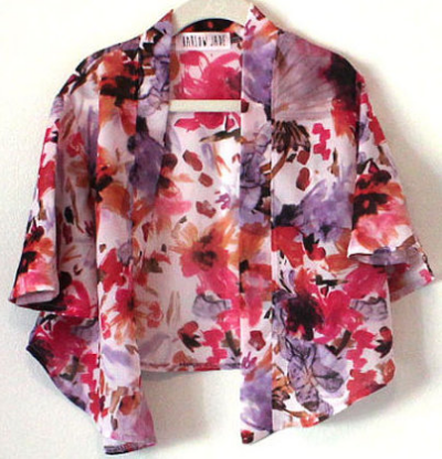 HarlowJade on Etsy Kids Floral Kimono $28.00- Handmade and made to order Girls Floral Kimono for our little Princess.