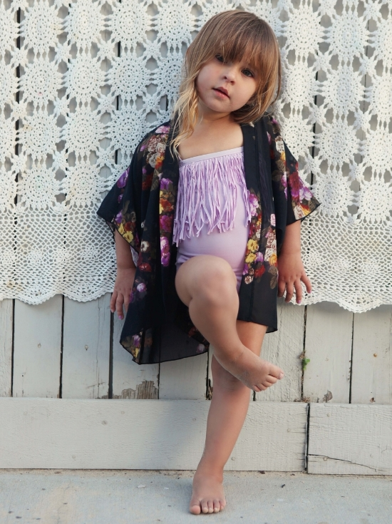Wild & Whimsy Black Floral Kimono $48.00- I love the beautiful prints used in Wild & Whimsy Kimonos (Wild & Whimsy Light Pink Floral Kimono worn in top photograph of this post).