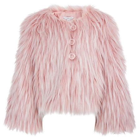 Little Marc JacobsPink Faux Fur Coatalso here