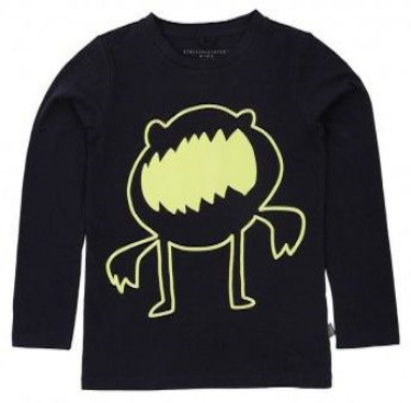 Stella McCartney Kids Tee With Glow In The Dark Monster