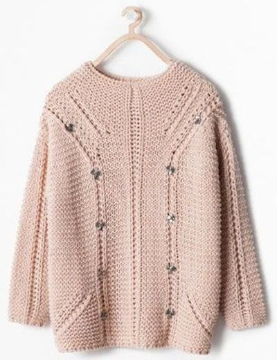 Zara sweater with appliqué jewels