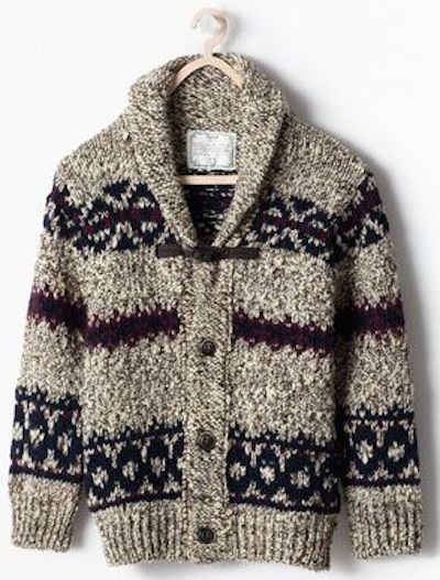 Zara intarsia cardigan with toggles