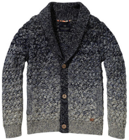 SCOTCH & SODA dip dye cardigan