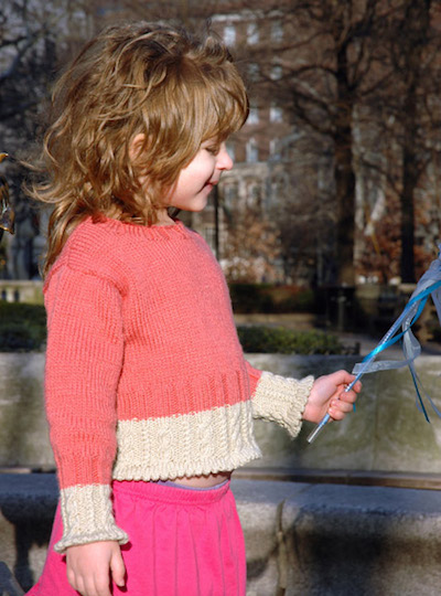 DIY Briar Rose Cropped Sweater Pattern by Carol J. Sulcoski