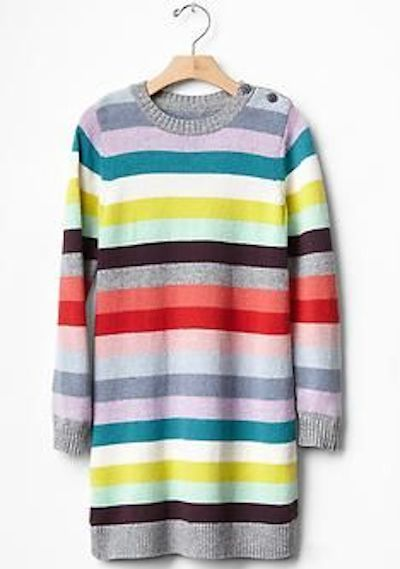 GAP Kids Holiday stripe sweater dress & GAP Baby