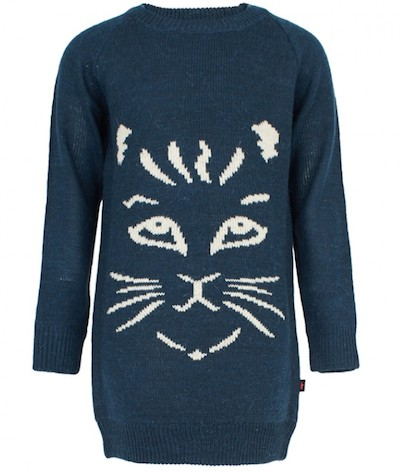 Molo Cat Face Sweater Dress