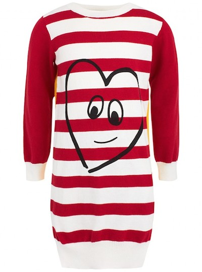 Stella McCartney Kids Red & Cream Striped Sweater Dress