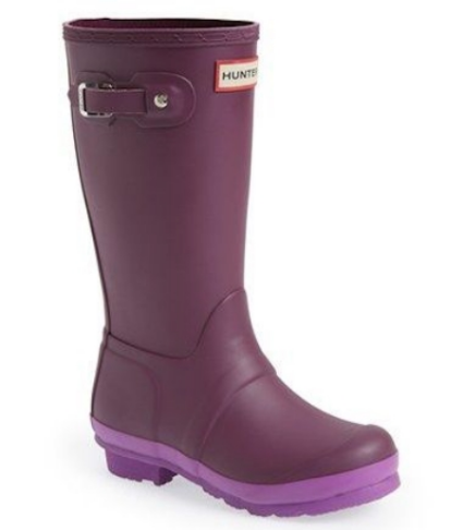 Hunter 'Original Contrast Sole' Waterproof Rain Boot