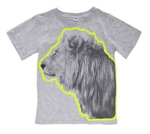Oversize Animal Graphic Tees   This  T-Shirt  has an oversized fluro lion print design to express your little ones love for lions while staying comfortable, cozy, cool and fashionable.