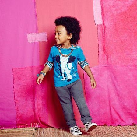 Hathi Graphic Tee |Bandoola Stripe Happy Hoodie|French Terry Moto Pants