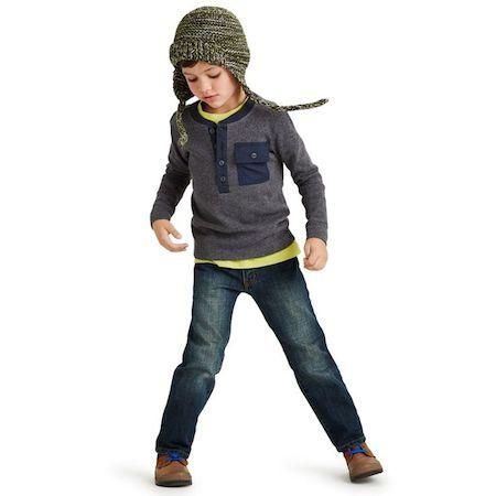 Ferde Pocket Henley |Ski Garmisch Double Decker Graphic Tee |Daytripper Dark Jeans|Peppercorn Kids Earflap Hat