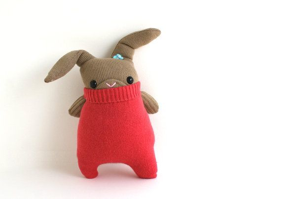 The Remakerie Little brown Easter SockBunny Phoebe